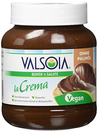 Valsoia La Crema - die vegane Aufstrichcreme mit Haselnüssen, Kakao und Soja, (400 g)