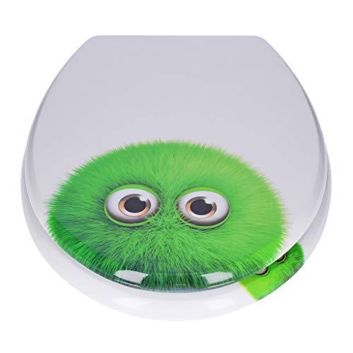 Georges WC-Sitz mit Absenkautomatik in verschiedenen Designs - Edition 2019 - neu und verbessert (green monster)