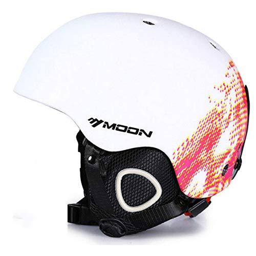 IAMZHL Ski Snowboard Helmabdeckung Herbst Winter Erwachsene Männer Skateboardausrüstung Sport Skihelme mit Schutzbrille-a9-XL(61-64cm)