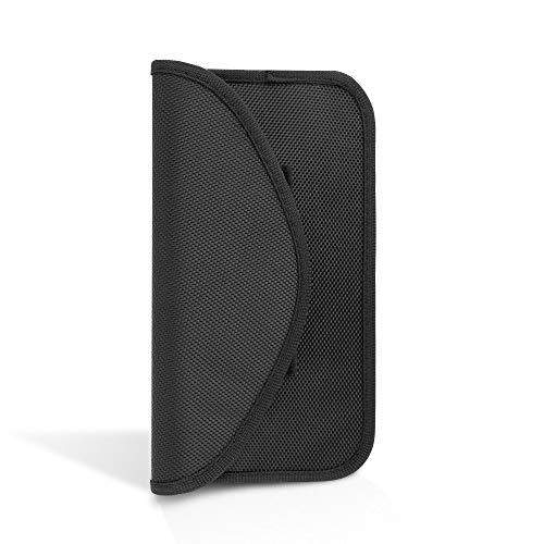 ECENCE 1x RFID Strahlenschutz-Tasche Handy Smartphone No-Signal Funk Stop Tasche Schwarz