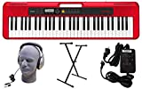 Casio CT-S200RD 61-Key Premium Keyboard Pack with Stand, Headphones & Power Supply, Red (CAS...