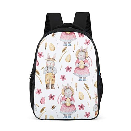 Ainiteey Personalisiert Büchertasche Wanderrucksack Diebstahlsicher Für 16-Zoll-Notebook für Frauen Männer Jungen Mädchen Grey OneSize