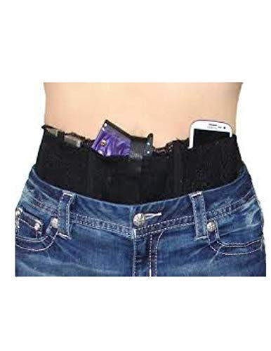 Hidden Heat Lace - Women's Belly Band Tactical Concealed Carry Gun Holster - Waistband Holster, Right and Left Draw for Pistols & Revolvers