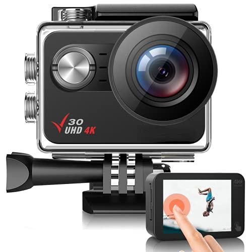 Action Camera, ACTMAN Native 4K 30FPS 20MP V30 Sports...