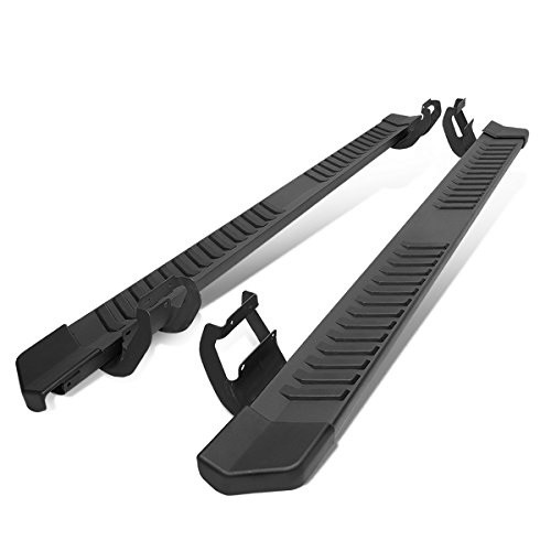 6 Inches Black Coated Side Step Nerf Bar Running Board Replacement for Ford F-150 F-250 F-350 Super Crew Cab 15-20