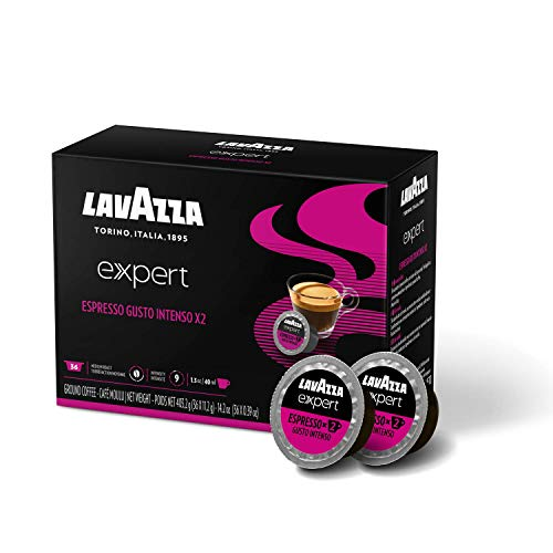 Lavazza Expert Espresso Gusto Intenso X2 Capsules (36 Capsules), Expert Espresso Gusto Intenso X2, 36Count , Sweet and aromatic Light Roast, Blended and roasted in Italy