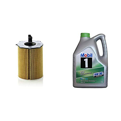 Original MANN-FILTER Ölfilter HU 716/2 X - Ölfilter Satz mit Dichtung/Dichtungssatz - Für PKW + Mobil Motorenöl 1 ESP 5W-30, 5L