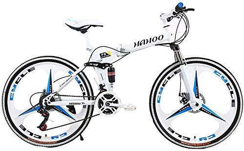 WJJH Bicicleta 26 Pulgadas de Bicicletas de montaña Plegable para Hombres y...
