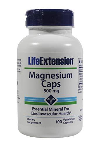 Magnesium Mangésio 500mg (100 caps) Life Extension