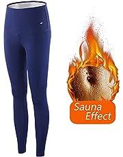 ZHRUI kvinnor viktminskning byxor bastubyxor, dam bantningsbyxor varm termo neopren svett bastu bantningsbyxor för kvinnor