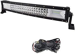 AUXTINGS 52 pulgadas 675W triple fila 7D LED barra de luz de trabajo Spot Flood Combo Beam DC 12 V-24 V 6000 K veh/ículos todoterreno 4 x 4 Atvs Utvs