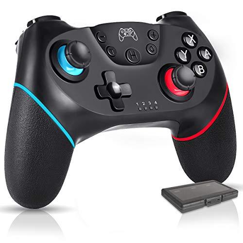 PiAEK Controller für Nintendo Switch Wireless Bluetooth Controller Nintendo Switch Kostenpflichtig 6-Achsen DualShock Turbo rutschfest Game Controller Switch