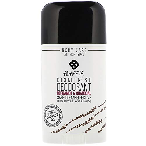 Alaffia Neem Turmeric Lemongrass & Charcoal Deodorant - Activated Charcoal, Odor Protection and Soothing Support from Shea Butter and Aloe Vera, Without Aluminum, Sulfates, or Parabens, 2.65 Ounces