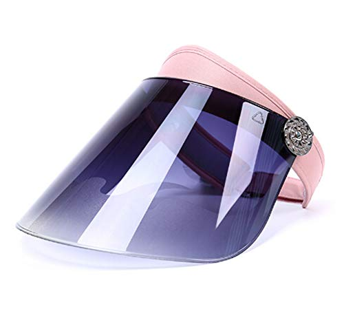 iSpchen Sommer Sun Cap Sonnenblende Hut UV Schutz Hut Kappe für Radfahren Wandern Golf Tennis Strand Im Freien Sport für Männer Frauen Rosa
