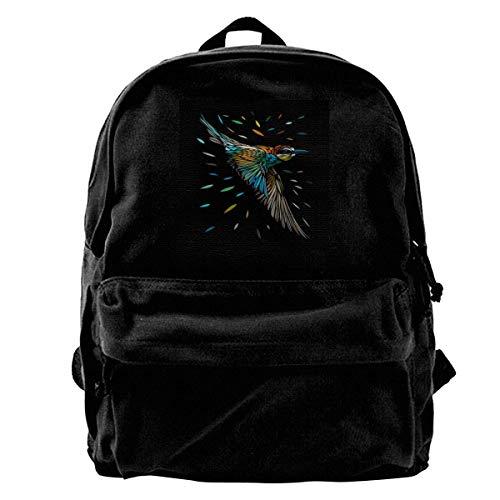 maichengxuan Canvas Backpack Tribal Colibri Hummingbird Rucksack Gym Hiking Laptop Shoulder Bag Daypack for Men Women