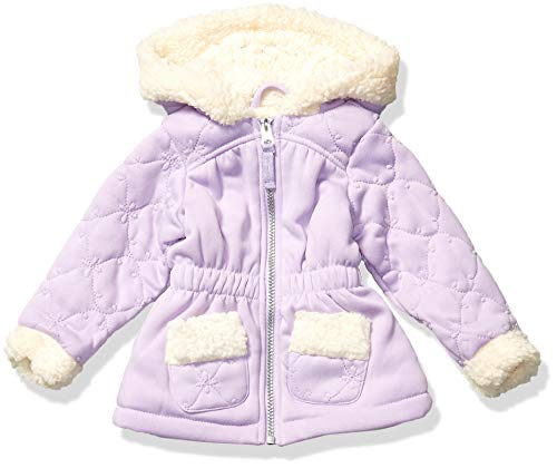 Limited Too Baby Girl's Spill Over Sherpa Jacket Outerwear, Lavender, 18M