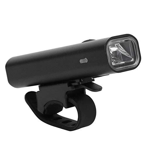 keyren Mini-Fahrrad-Frontleuchte Ultraleichte Fahrrad-Frontleuchte, Fahrrad-Scheinwerfer mit hoher Helligkeit, einfach zu installierende tragbare Scheinwerfer USB-Akku zum Radfahren