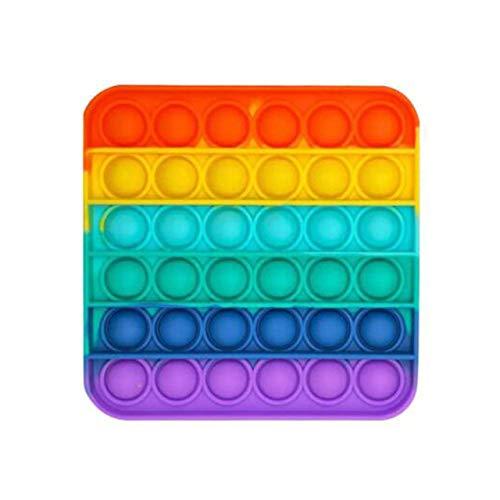 Juguete Cuadrado Push Pop Pop Bubble Juguete Sensorial Juguete Sensorial Apretón De Silicona para Aliviar El Autismo Alivio De La Ansiedad por Estrés