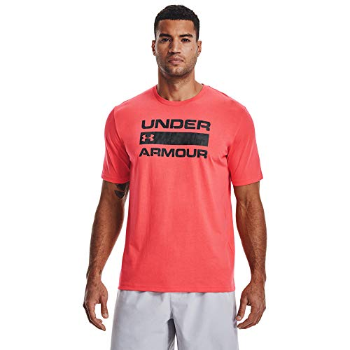 Under Armour Men's Stacked Logo Fill T-Shirt , Venom Red (690)/Halo Gray , XX-Large