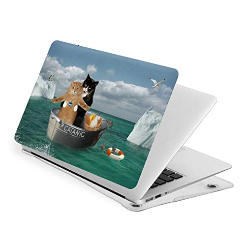 Funny Catanic Two Cats Cosplay Titanic MacBook Pro 13 Inch Case 2016-2019Release A2159 A1989 A1706 A1708, Plastic Hard Shell Case for Apple Mac Pro 13 with/Without Touch Bar