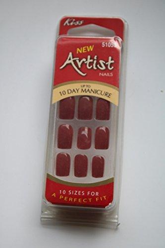 Kiss Artist Nails Inhalt: 24 Nails in 10 Sizes Modell: 51053 Kunstfingernägel ohne Kleber