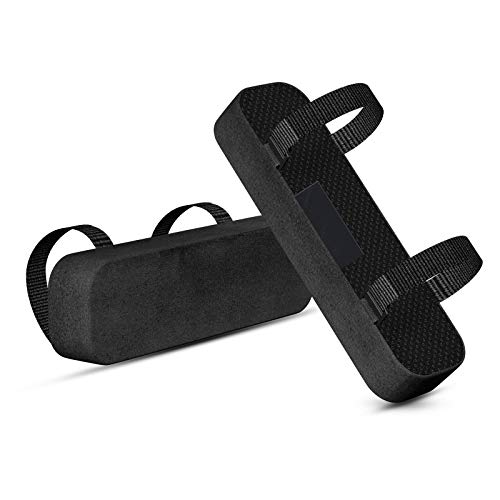 Chair Armrest Pads Memory Foam Comfortable Elbow Pillows for Office Chair Arm Support Forearm Pressure Relief Soft Cushion Anti-Slip Bottom Black 2 Pack (C)