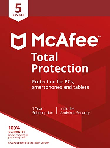 McAfee Total Protection - 5 Devices | PC/Mac/Android/Smartphones | Activation code by post