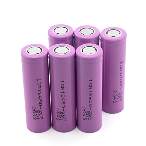 HTRN Batería De Iones De Litio De 26650a 3.7v 5000mah, Alta Capacidad para Las BateríAs Recargables para La Linterna Llevada 2pcs