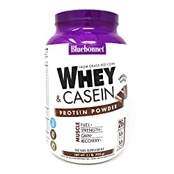 powerful Blue Bonnet Nutrition Protein Powder, Double Action, Grass Fed Whey, 26 grams of Protein, …