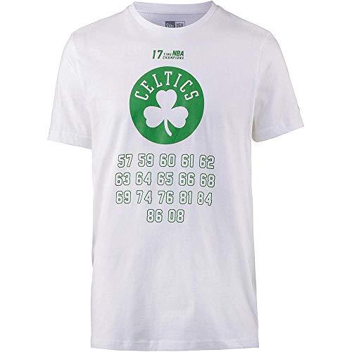 New Era NBA Team Champion tee Boscel Camiseta, Hombre, White, S