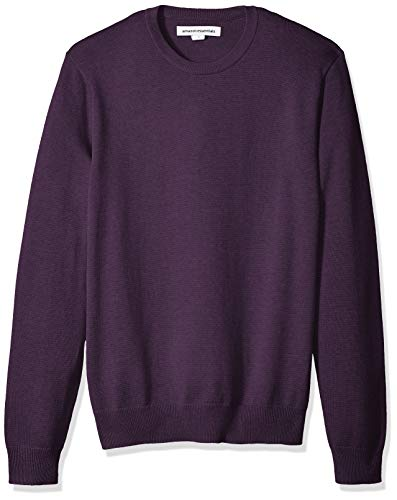 Amazon Essentials Men's Crewneck Sweater, Purple Heather, Medium