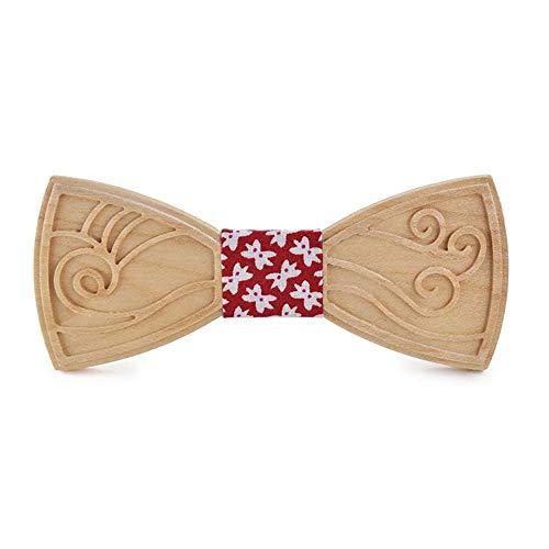 TIUTIU Note Musicali Papillon In Legno Intagliato - Fasciatura, Elastico Regolabile - Cravatta Da Pranzo In Legno Per Cena - Confezione Regalo In Legno (19)