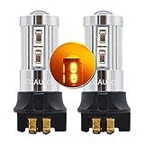 MCK Auto - Reemplazo para PW24W LED CanBus Conjunto de bombillas naranjas muy claras y sin errores A3 A4 A5