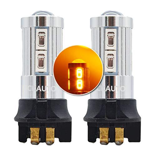 MCK Auto - Remplacement pour PW24W LED CanBus Ensemble d'ampoules orange très clair et sans erreur compatible avec i3 A3 A4