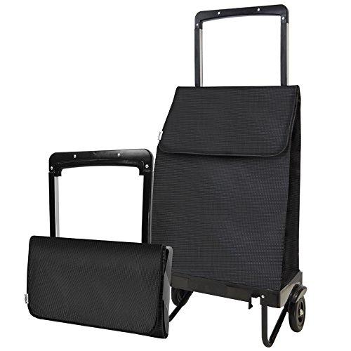 achilles City-Trolley, Faltbarer Einkaufstrolley, Einkaufswagen, Einkaufsroller in schwarz, 41 cm x 25 cm x 98 cm