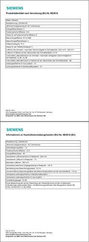 Siemens LE63MAC00 Dunstabzugshaube – Zwischenbauhaube - 9