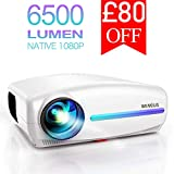 Projector, WiMiUS 6500 Lumens Native 1920x1080P HD Video Projector with 4D ± 50°
