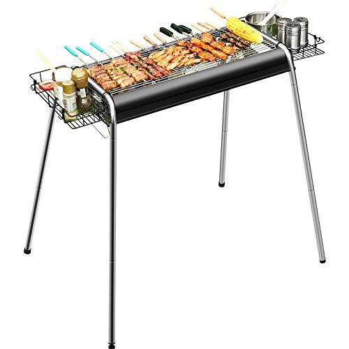 WMNRNYD Barbecue Pliant, Barbecue de Jardin Portable, avec Fonction réglable en Hauteur, barbecues multifonctionnels à Grande capacité