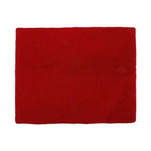 盛世汇众 Beanie Hat Scarf Winter for Women Men Crochet Skullies Hat Solid Color Unisex Autumn Knitted Beanies Cap Accessories (color : Ring red)