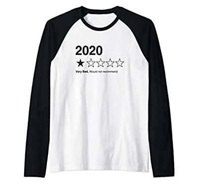 2020 One Star - Very Bad Would Not Recommend Funny Raglan Baseball Tee