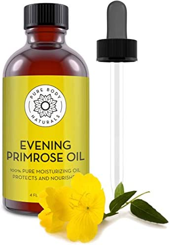 Evening Primrose Oil liquid not capsules for Face Skin and Hair by Pure Body Naturals 4 fl oz product image