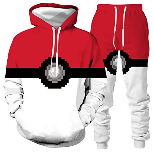 DREAMING-Chaqueta de primavera y otoño, traje deportivo con capucha, jersey de manga larga, suéter, camiseta casual + pantalones, traje de béisbol para parejas de 2 piezas M