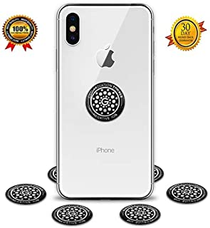 Anti Radiation Protector Shield Sticker, EMR Protection Blocker, EMF Neutralizer Patch Energy Saver Scalar Ion for All Mobile Phones, iPad iPod, MacBook, Computer, Laptop (Sliver 6pcs)