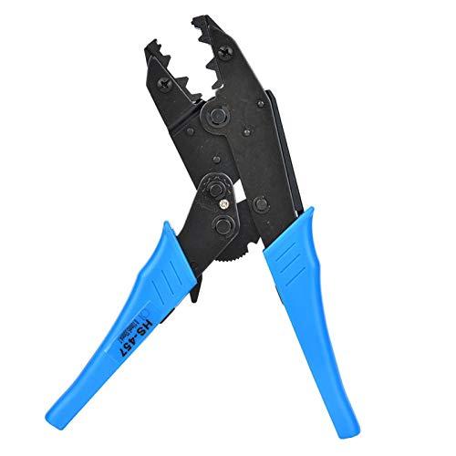 Herramienta de crimpado de trinquete, mini alicates de crimpado de trinquete Alicates de crimpado de alambre de trinquete para conectores termorretráctiles, crimpadora de alicates de