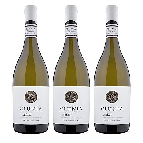 Vino Blanco Clunia Albillo de 75 cl - D.O. Castilla-Leon - Bodegas Clunia (Pack de 3 botellas)