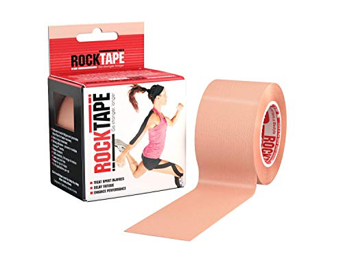 "Rocktape Kinesiology Tape for Athletes, Water Resistant, Reduce Pain & Injury Recovery, 2"" x 16.4 Feet, Uncut or Pre-Cut Strips"