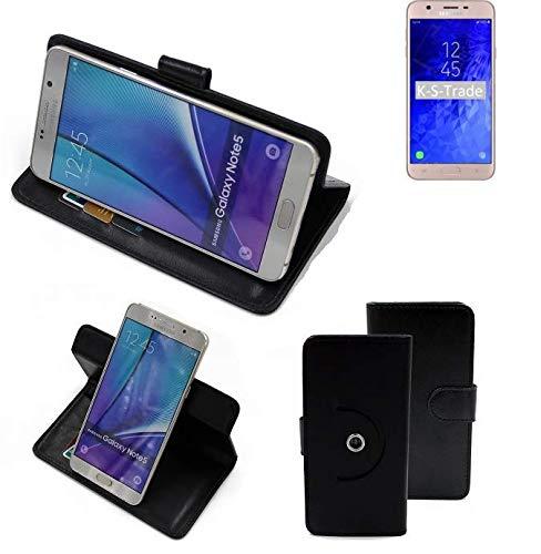 K-S-Trade® 360° Funda Smartphone para Samsung Galaxy J7 Refine (2018), Negro | Función De Stand Caso Monedero BookStyle Mejor Precio, Mejor Funcionamiento