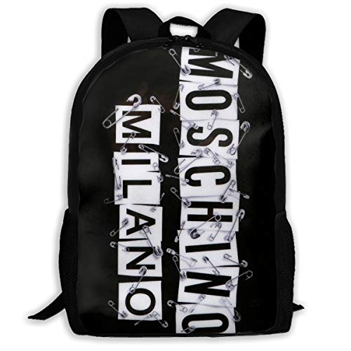 Moschino Milano School Bag Teenager Casual Sports Backpack Men Women Student Travel Hiking Laptop Backpack