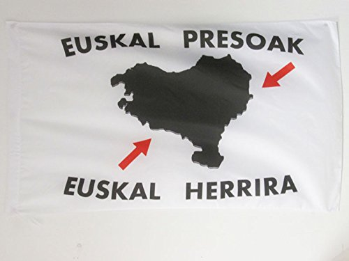 AZ FLAG Bandera del PAÍS Vasco EUSKAL HERRIRA 90x60cm para Palo - Bandera Vasca - EUSKADI 60 x 90 cm