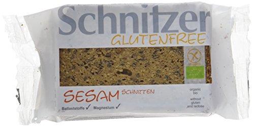 Schnitzer glutenfree Bio Sesam Schnitten, 6er Pack (6 x 250 g)
